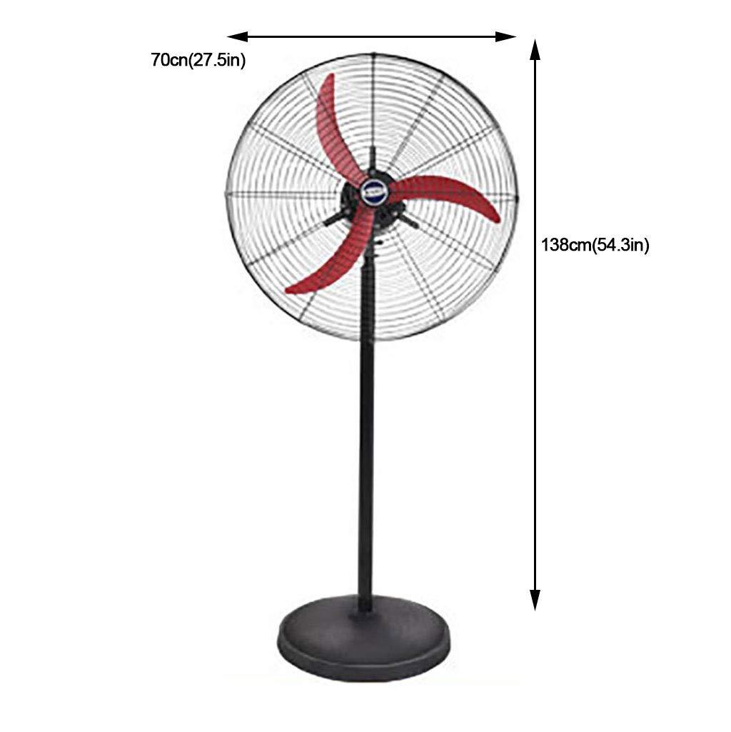 YFH Ventilador de pedestal Ventilador industrial oscilante con 3 ...
