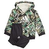 adidas I Jog Set B Tutina per Bambino e Neonato, Top:Black/Semi Screaming Green Bottom:Black/White, 2-3A Bimbo 0-24