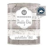 Wanders24® Kreidefarbe (750 ml, geschichtliches Weiß) Holzfarbe für Shabby Chic Look -...