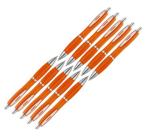 presents & more - Bolígrafo (10 unidades), color naranja