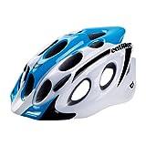 Catlike Kompact'o - Casco de ciclismo, color azul / blanco brillo, talla LG (L 59-61 cm)