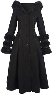 POachers Manteau Gothique Femme Long Classique Parkas Trench-Coat Blouson Veste Manches Longues Femmes Asym/étrique Coat Manteaux Chaud Automne Hiver Gabardine Outwear