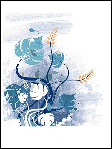Fliesenaufkleber Fliesentattoos für Bad & Küche - NUR FÜR WEIßE FLIESEN - weißes Viereck als Hintergrund - Küchenfliesen für einzelne Fließen 20x25 cm - ME028 - Schön Blumen
