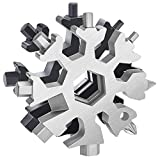 Snowflake Multitool 2 Pack 18-in-1 Snowflake Multi-tool, Carbon Steel Multi tools for Outdoor Travel Camping Adventure Daily