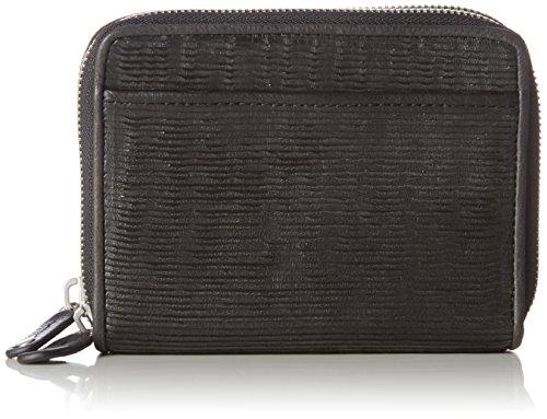 Marc O'Polo Damen Zip Wallet S Geldbörse, Schwarz (Black), 10x4x13 cm