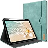 iPad Air 4. Generation Hülle 2020 Neues iPad Air 10.9 Zoll Hülle W Stift Halterung PU Leder Folio Stand Smart Cover mit Tasche Auto Sleep/Wake [Unterstützt drahtloses Laden] (Minzgrün)