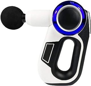ZSR-haohai Cuidado Personal Pantalla LCD Fascia masajeador eléctrico Consejo de Masaje Terapia ccsme ángulo Ajustable de Fitness Muscular Estimulador Masaje y relajación (Color : Blue White)