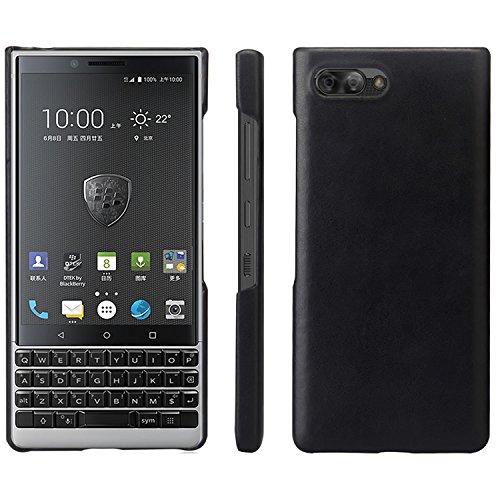 HualuBro BlackBerry KEY2 Hülle, Ultra Slim Premium Leichtes PU Leder Leather HandyHülle Tasche Schutzhülle Hülle Cover für BlackBerry Key 2 Smartphone (Schwarz)