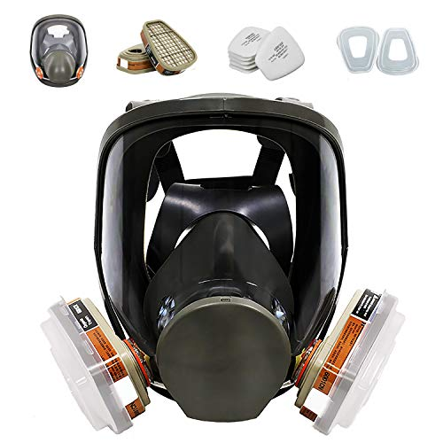 15in1 Full Face Large Size Respirator,dust-proof Face Cover,Full Face Cover Wide Field of View,paint mask for painting, mechanical polishing, logging, welding and other work protection