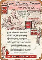 SUDISSKM ブリキ看板1933赤白ひき肉グッズ壁アート