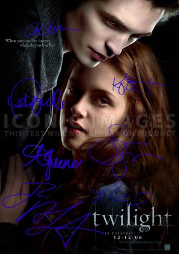 Iconic Images Twilight Movie Print (11.7 X 8.3) Cast Robert Pattinson Kristen Stewart Taylor Lautner Ashley Greene Nikki Reed Peter Facinelli Stephanie Meyer