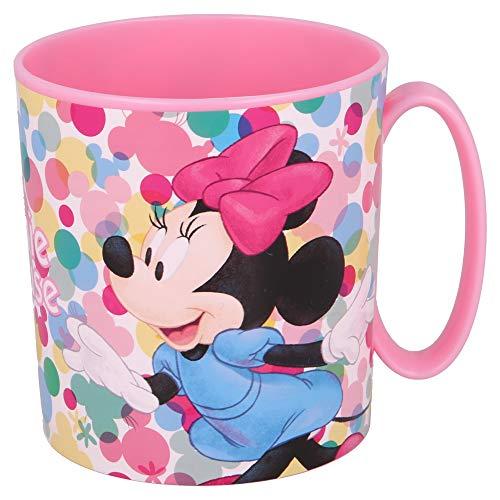 MINNIE MOUSE | Taza para niños y niñas con diseño de personajes - 350 ml | Taza infantil de plástico para microondas -...