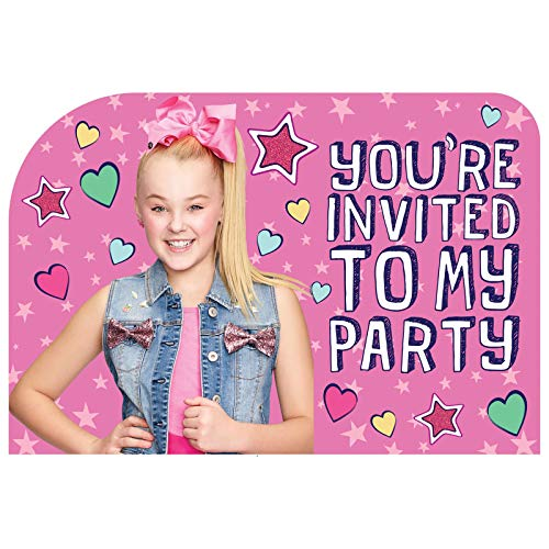 JoJo Siwa Party Invitations (Pack of 8)