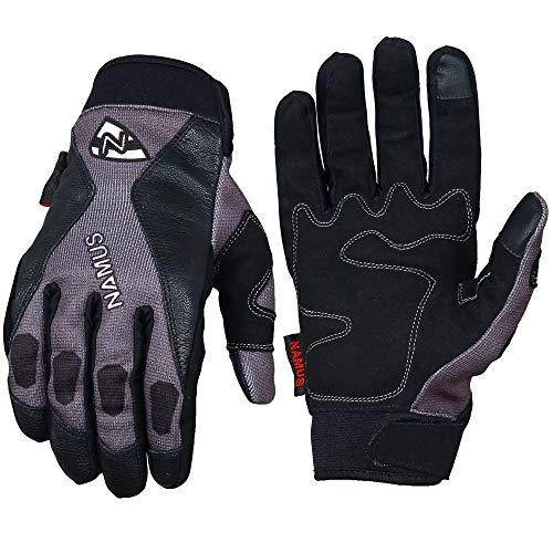 Namus Guantes Motocross, Guantes Moto Para Hombre y Mujer, Guantes Todoterreno, guantes deportivos con dedos completos, Pantalla táctil completa, Motocicleta Escalada Senderismo Montar Guantes (L)