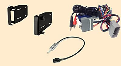 Radio Stereo Install Double Din Dash Kit + Steering control wiring + canbus wire harness + antenna adapter for - Jeep Commander (08-10), Compass (09-12), Grand cherokee (08-10), Liberty (08-12), Patriot (09-12), Wrangler (07-15), Mitsubishi Raider (08-09)