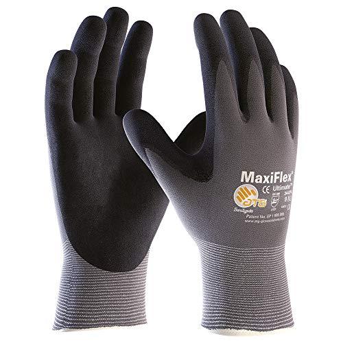 12 Paar MaxiFlex Montagehandschuhe, Arbeitshandschuhe, Handschuhe Ultimate (L)