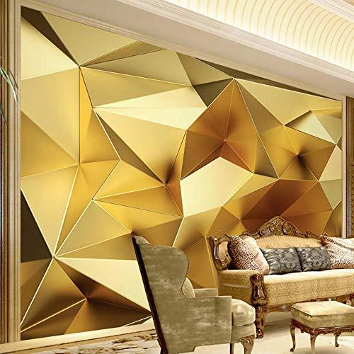 Benutzerdefinierte Tapete Luxus Golden Geometric Polygon 3D Foto Wandbild Modern Interior Wohnzimmer Restaurant Schlafzimmer-350 * 275cm
