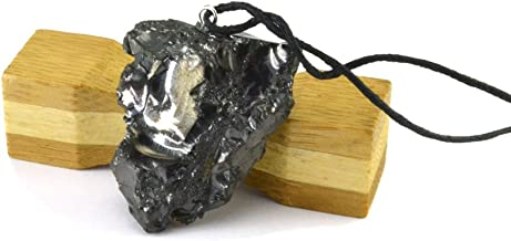 Karelian Heritage Best Elite Shungite Crystal Pendant, Protective Root Chakra Jewelry for Men