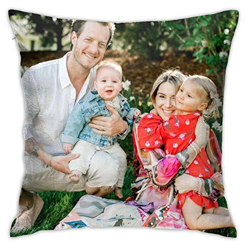 wenhe Florida Georgia Line Youth - Funda de almohada cuadrada para sofá (45,7 x 45,7 cm), color blanco
