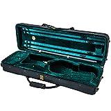 SKY 4/4 Full Size Acoustic Violin Oblong Case Lightweight with Hygrometer Black/Green