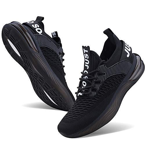 JointlyCreating - Zapatillas de running para hombre, antideslizantes, ligeras, transpirables, de malla, para atletismo, gimnasio, deportes, Gris, 7