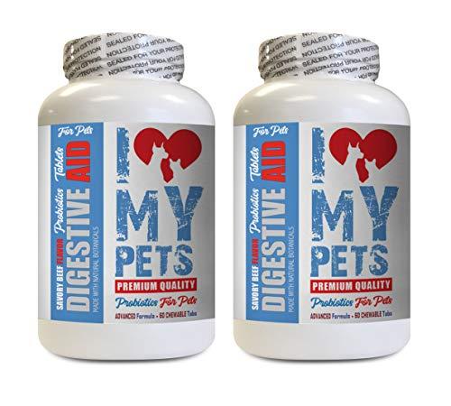 I LOVE MY PETS cat probiotic for Constipation - PET Digestive AID - Dogs and Cats - Best PROBIOTICS - cat Digestive Supplements - 120 Treats (2 Bottle)