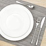 Suleno Geschirr Set Elena Tafelservice 18 teilig rund reinweiß Porzellan Geschirrset für 6 Personen Teller Suppenteller Dessertteller - 2