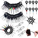 73pcs Terminal Removal Tool kit,Vignee Pins Terminals Puller Repair Removal Key Tools for Car,Pin Extractor Electrical Wiring Crimp Connectors Key kit,Extractor Connectors Depinning Tool Set