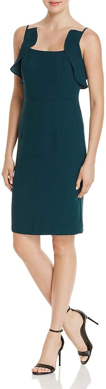 Nanette Nanette Lepore Womens Ruffled KneeLength Cocktail Dress