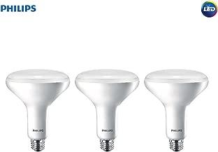 Philips LED Dimmable BR40 Soft White Light Bulb with Warm Glow Effect 800-Lumen, 2700-2200-Kelvin, 10-Watt (65-Watt Equivalent), E26 Base, Frosted, 3-Pack
