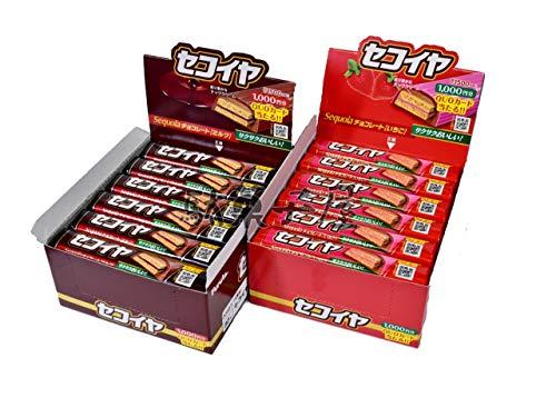 フルタ製菓 セコイヤチョコレート ミルク味&いちご味 各25本 計50本 駄菓子詰め合わせセット