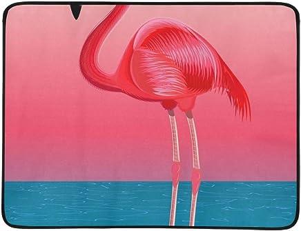 SHAOKAO Roter Flamingo gegen stilisierte Seelandschaft tragbare und Faltbare Deckenmatte Deckenmatte Deckenmatte 60x78 Zoll-handliche Matte für kampierenden Picknick-Strand B07NVBH7M4   Angemessene Lieferung und pünktliche Lieferung  2813ce
