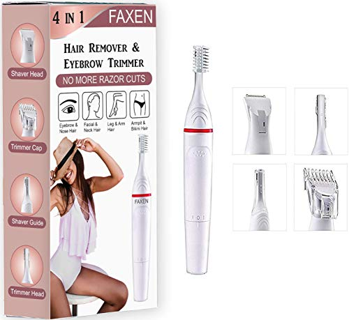 Cybuy Trimmer for Women, Bikini Private parts Girl Razor 4 in 1 || Underarms, Eyebrows, Face, Lips Hair Remover