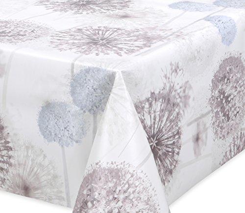 Premium Wachstuch LFGB Tischdecke für Garten und Küche, abwischbar, glatt Pusteblume, Größe wählbar (200 x 140 cm)