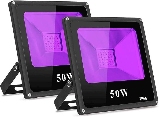 359 opinioni per TOPLANET 50W-2Pack Luce Nera Faro LED IP65 Impermeabile Luce Effetto con 2m