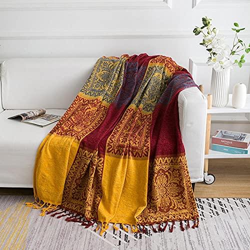 haoyunlai Funda de sillón para sofá, manta de sofá de estilo europeo, mantel, manta, manta, manta de punto, toalla de sofá, 4 x 150 cm x 90 cm