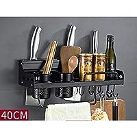 キッチン用収納ラック、キッチンキッチン用品ラックスペースアルミアルミニウムサイドバンドフェンス多機能収納ラック 40cmdouble