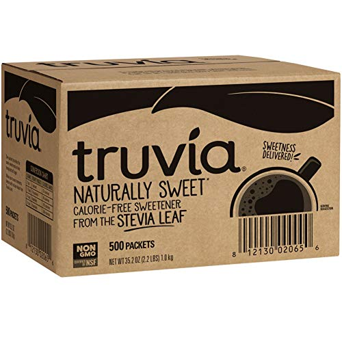 Truvia Natural Stevia Sweetener Packets, 35.2 Ounce, 500 Count (Pack of 1)