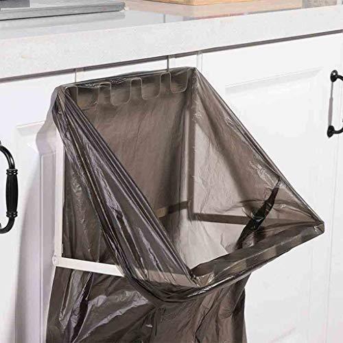 FBGood Müllbeutelhalter – Haken für Müllbeutel, Halterung für Müllbeutel, Aufbewahrung für Küche, faltbar, Kunststoff weiß