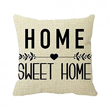 July Pillowcase Home Sweet Home Pillow Cover 16inch
