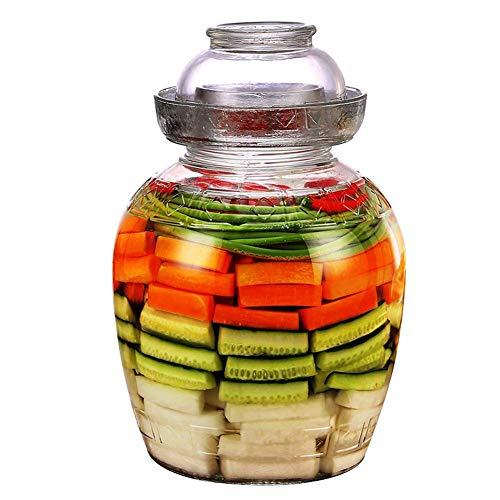 HIGHKAS Vorratsglas, Mehrzweck-Einmachglas, Glas-Einmachglas mit Deckel Sauerkraut-Glas für die tägliche Gunst Einmachen mit weitem Mund (2,5 Liter)
