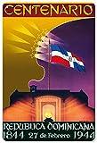 Generic Brands Centenario Republica Dominicana de Chapa Mural Wall Hang Retro Poster Art Creative Door Sign Decoración Bares Cafés Pubs Inicio