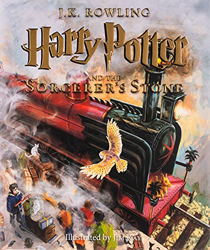 J.K. Rowling Harry Potter and the Sorcerers Stone illustrated edition book