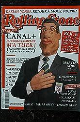 ROLLING STONE 07 COVER CANAL+ GUIGNOL REZIAH JONES WAMPAS LAUBY BED