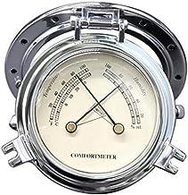 balikha Medidor De Temperatura De Humedad Retro De 100 Mm De Diámetro Para Yates (plateado)