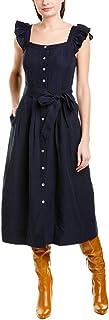 فستان Rebecca Taylor نسائي بدون أكمام متوسط الطول