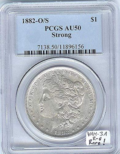 1882 O Morgan Dollars AU 50 PCGS