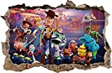 Wall Graphics Pegatinas de Pared Agujero en la Pared Toy Story 4 Adhesivo Decorativo de Pared 78 (XXL - 115 x 75 cm)