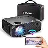Proyector BOMAKER 4000 lúmenes Native 720P Mini proyector con carga Full HD 1080p de 50000 horas Retroproyector compatible con funda de transporte – GC555 Update