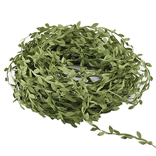HOGADO Artificial Vines, 132 Ft Fake Hanging Plants Silk Ivy Garlands Simulation Foliage Rattan Green Leaves Ribbon Wreath Accessory Wedding Wall Crafts Party Decor